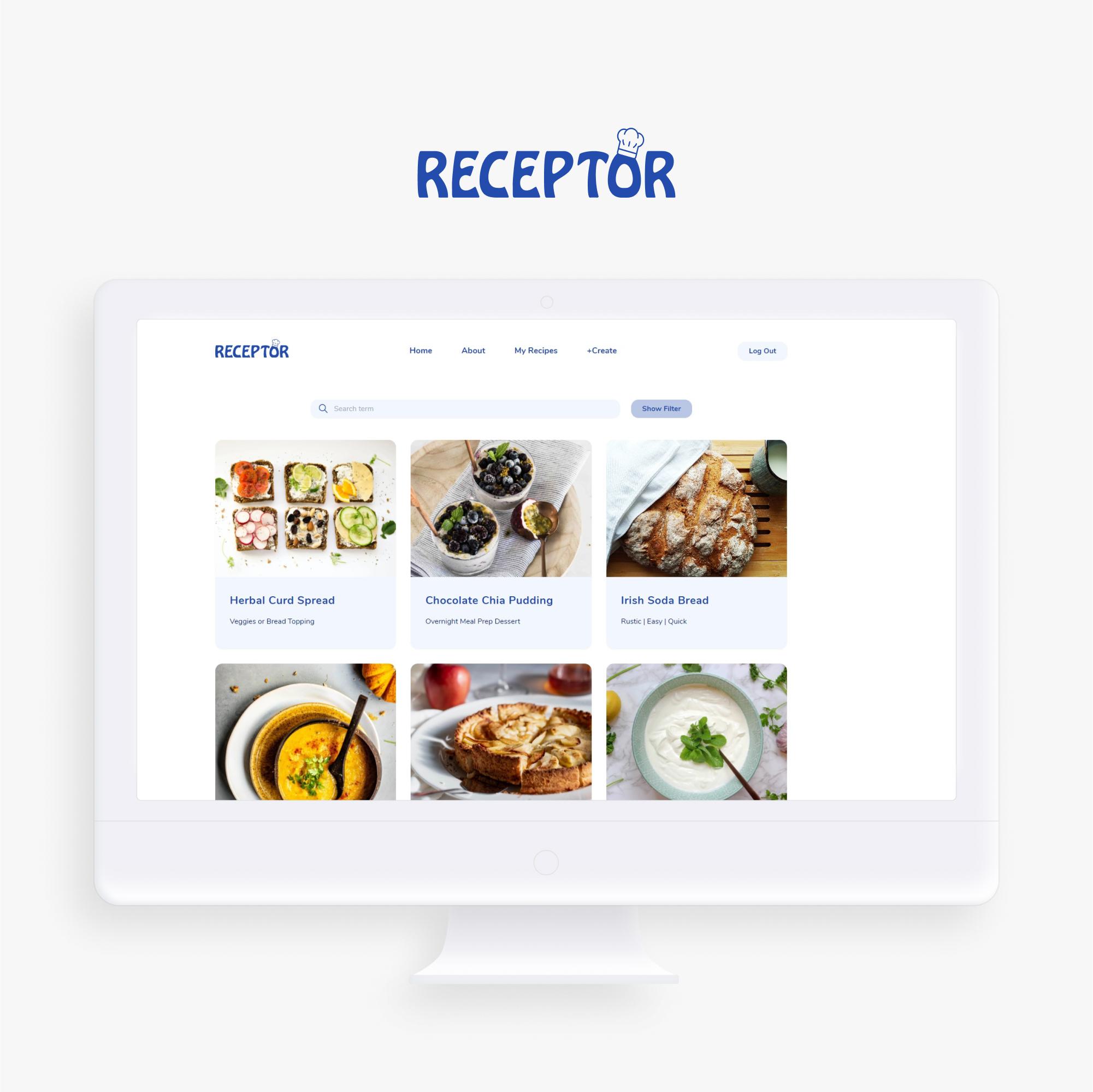 Recept0r > App Design